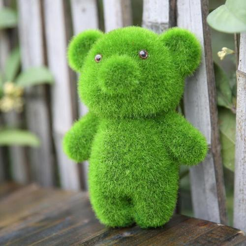 Cute Artificial Grass Bear