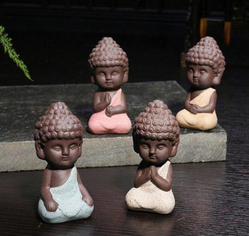 Set of 4 Small Buddha Statues