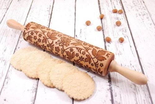Embossed Vined Rolling Pin