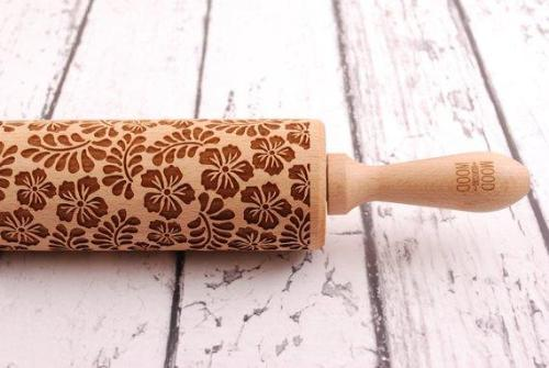 Embossed Leafed Rolling Pin