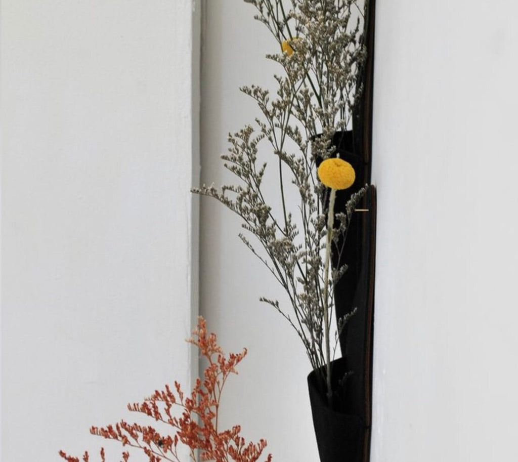 Suede Leather Wall Vase