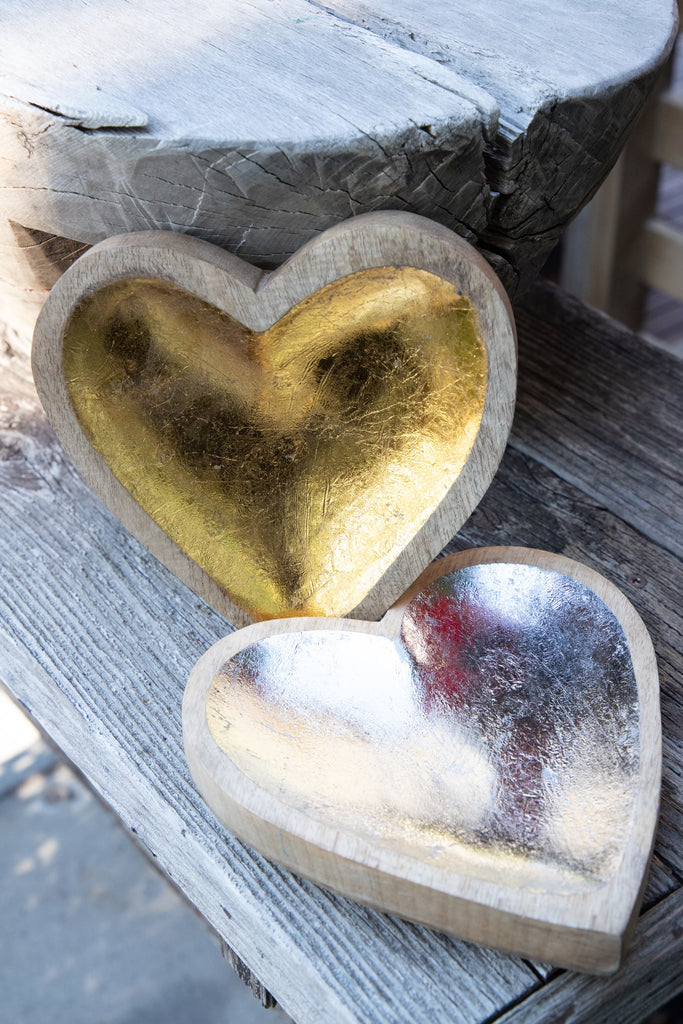 Mango Wood Heart Tray - 2 Colors