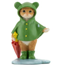 Kitten in Raincoat - Garden to Go Figurine