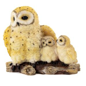 Owl Mother with Babies - Garden to Go Figurine