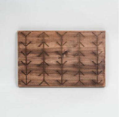 Engraved Wooden Arrow Tray