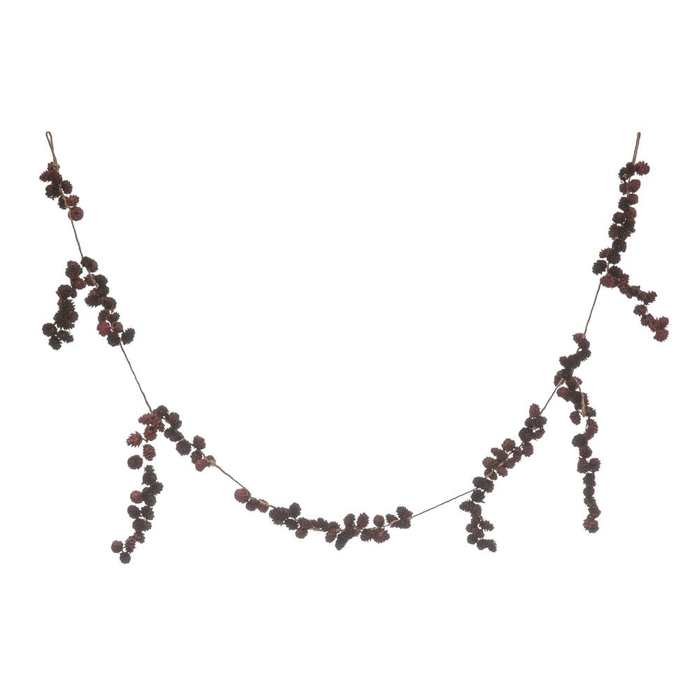 "72""L Pinecone Garland, Burgundy"