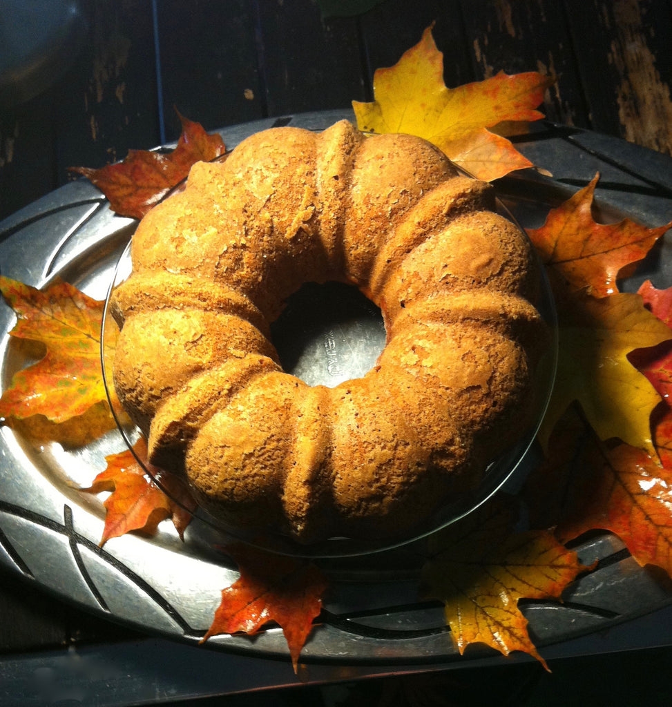 Fall Apple Bundt Made with Maple Run Emporium Apple Cinnamon Pancake Mix