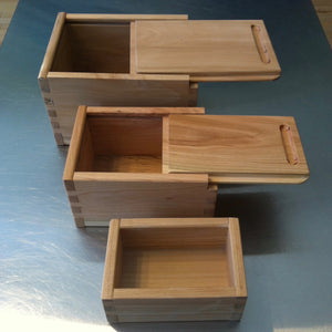 Nested Set of Three Boxes with Beech