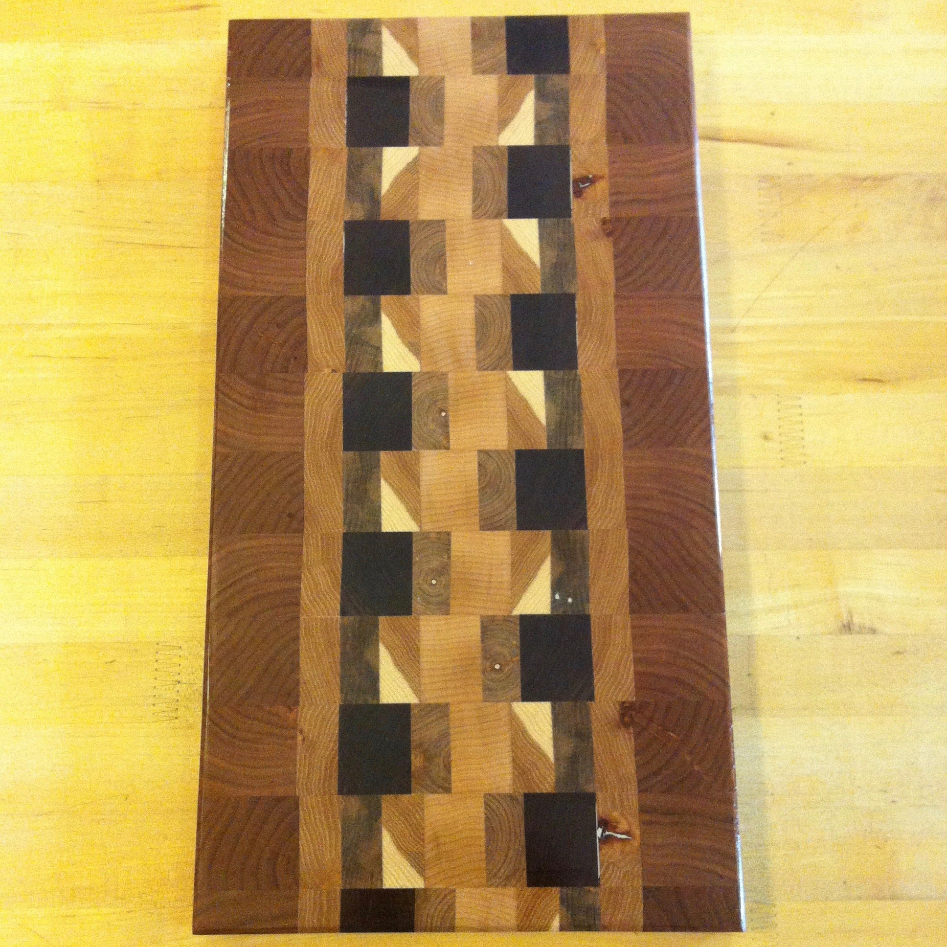 Cherry, Purple Heart, Ash Cutting Board