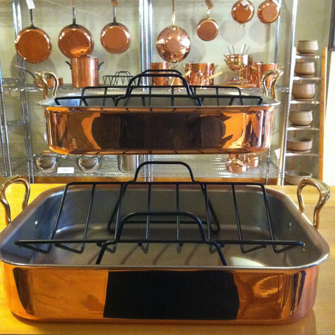 Copper Roaster with Rack