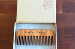 Dad's Beard Comb Handcrafted Cherry Wood