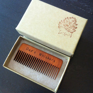Dad's Whisker Comb