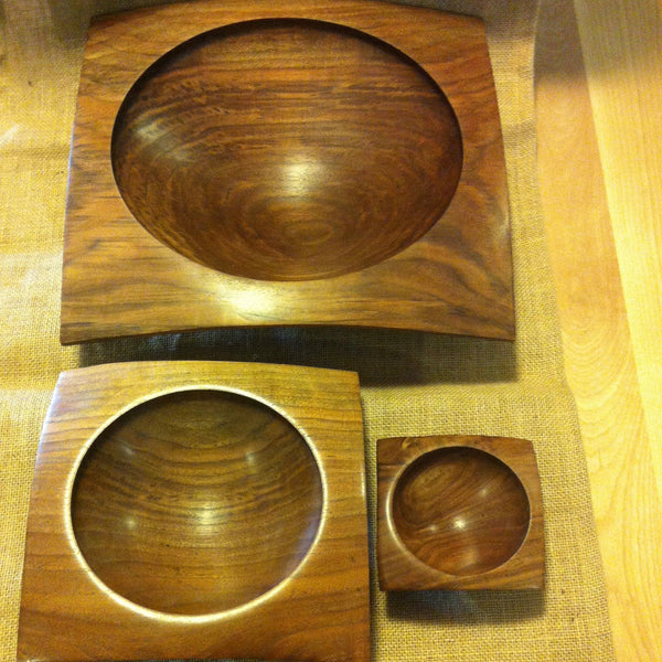 Black Walnut Nested Bowl Set