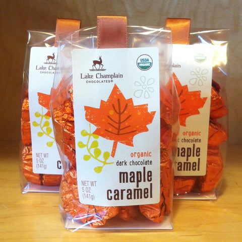 Dark Chocolate Maple Caramel Leaves
