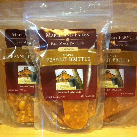Maple Peanut Brittle