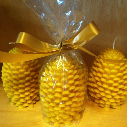 Pinecone Beeswax Candles