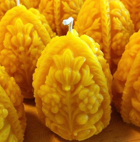 Decorated Egg Beeswax Candles