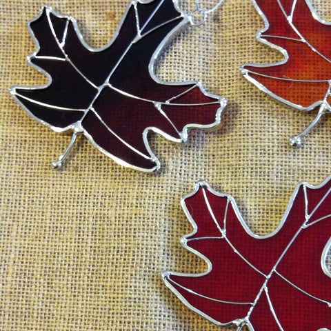 Stained Glass Maple Leaves