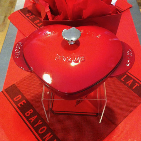 Red Heart Cocotte Cast Iron