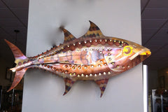 Copper Tuna Wall Sconce Handcrafted