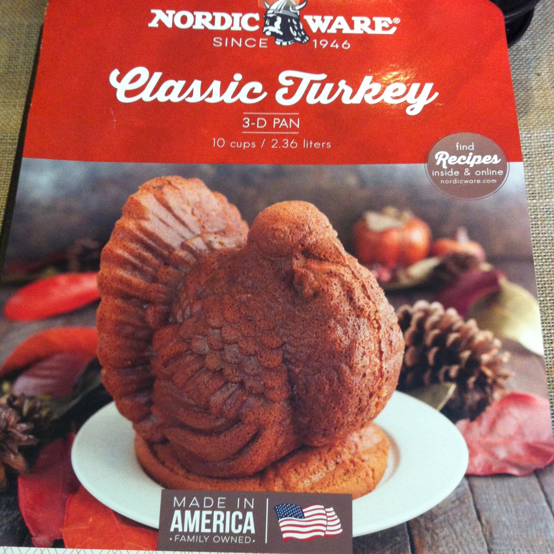 Classic Turkey 3-D Bundt Pan