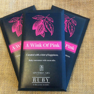 A Wink of Pink Ruby Chocolate Bar