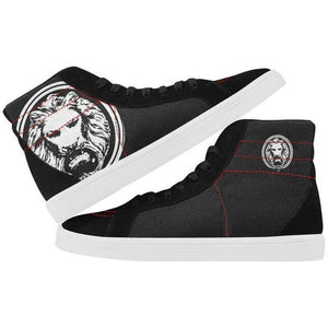 Mens Black Lion Skate Shoes with High Top