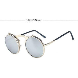 Men's Classic Retro Brand Steampunk Sunglasses