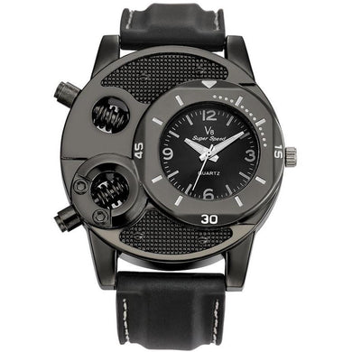Men's Thin Silica Gel Students Sports Quartz Watch