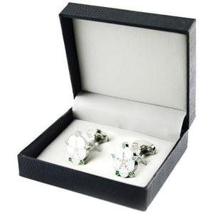 Mens Wedding Party Gift Cherry Blossoms Cufflinks With Box
