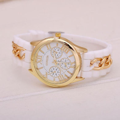 Women l Watch Silicone Roman Numerals Quartz