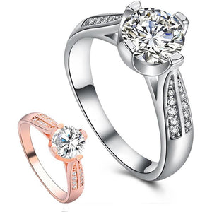 Flower Crystal Wedding Ring