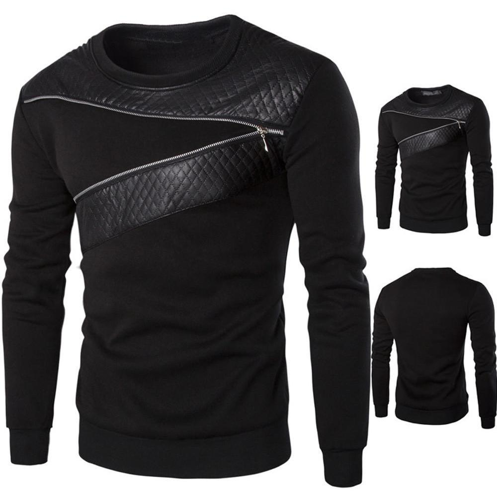 Men's  Winter Warm Splicing  Sweatshirt