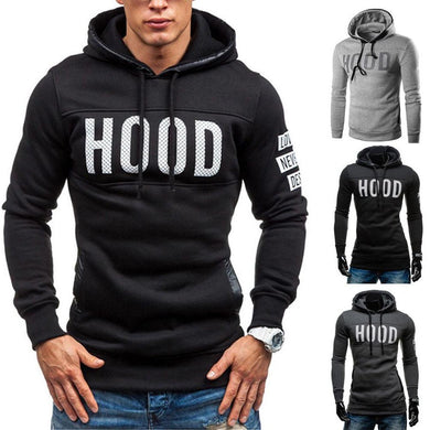 Men's Winter Slim Hoodie Warm Pullover