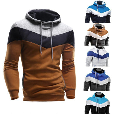 Men's  Retro Long Sleeve Hoodie Sweatshirt