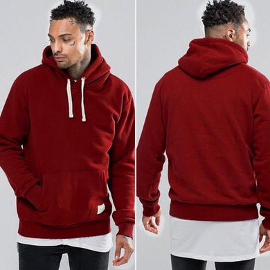 Men's  Winter Fleece Pocket Hoodie  Sweatshirt