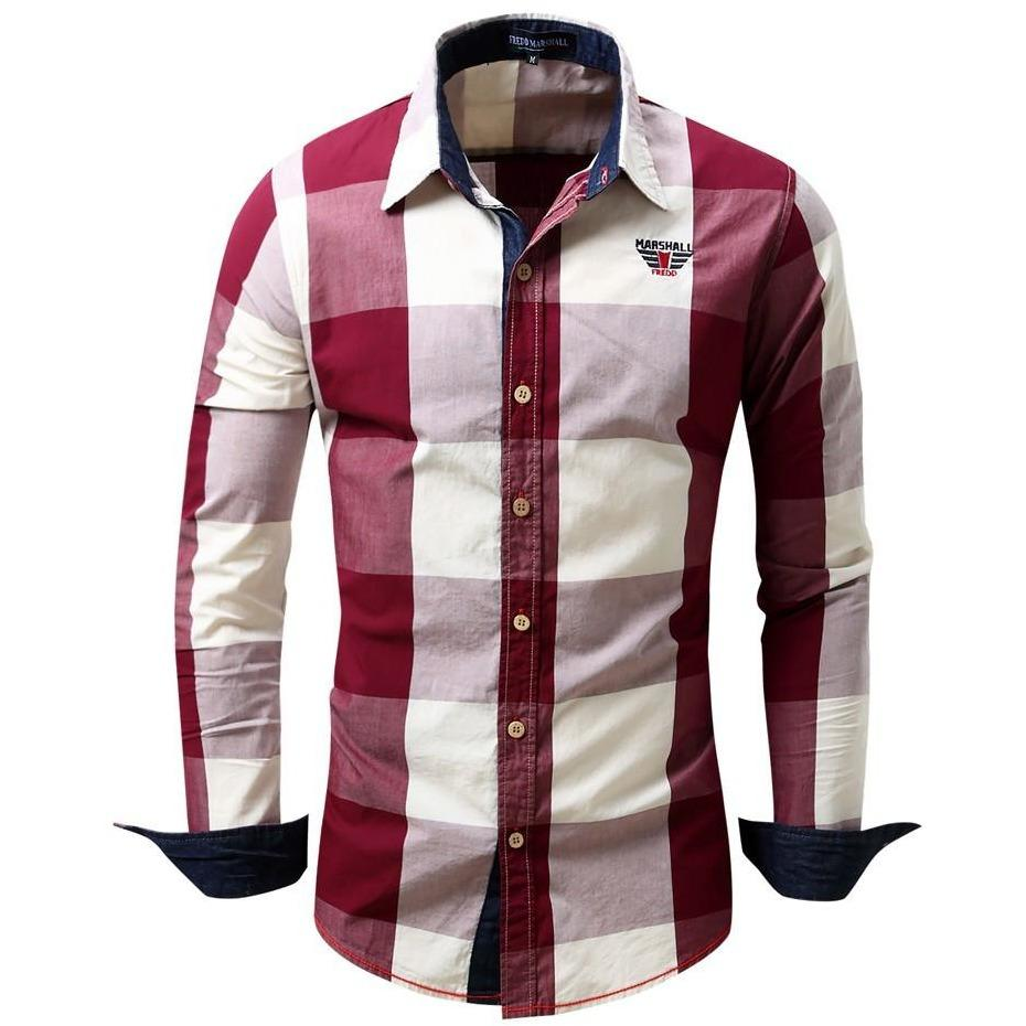 Men's  Long Sleeve Non-Iron Casual  Cotton Shirt