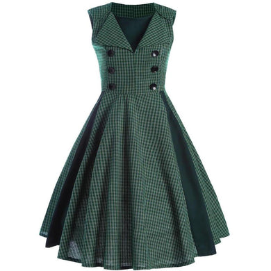 Women's retro big pendulum dress