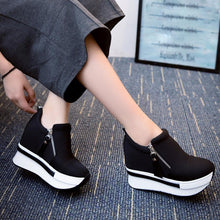 Women Wedges Boots Platform Shoes Slip On Ankle Boots Fashion Casual Shoes