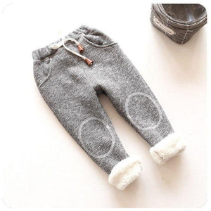 children plus velvet padded sports pants boys and girls casual trousers