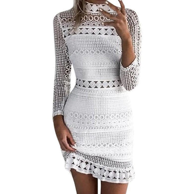 Womens  Lace Cocktail Party Pencil Dress
