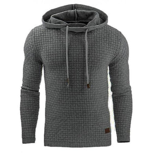 Men Hoodie Long Sleeve Solid Colors