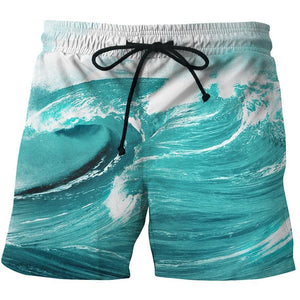 Men's Casual  Printed  Beachwear