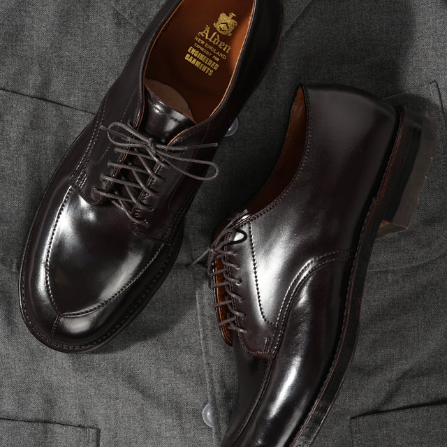 [NOW IN STOCK] Engineered Garments x Alden Special Order Algonquin V-Tip Blucher #8 Shell Cordovan.