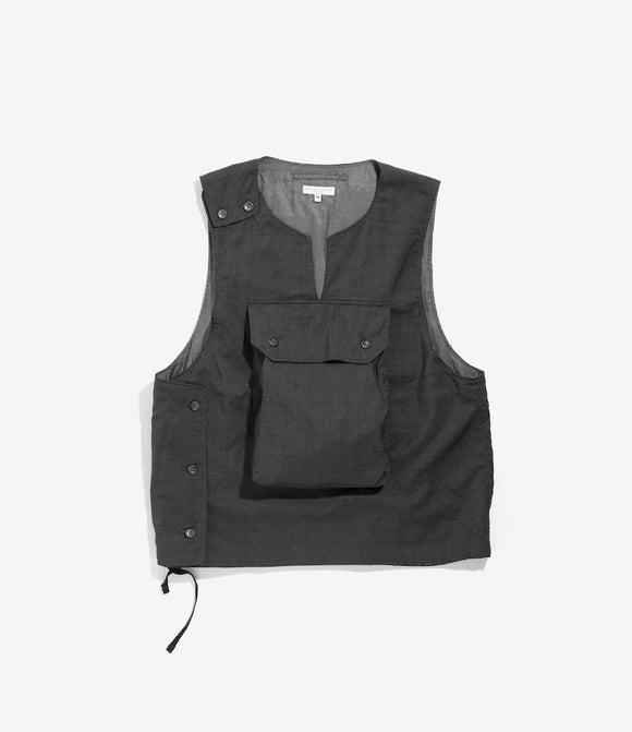 Cover Vest - Grey Tropical Wool