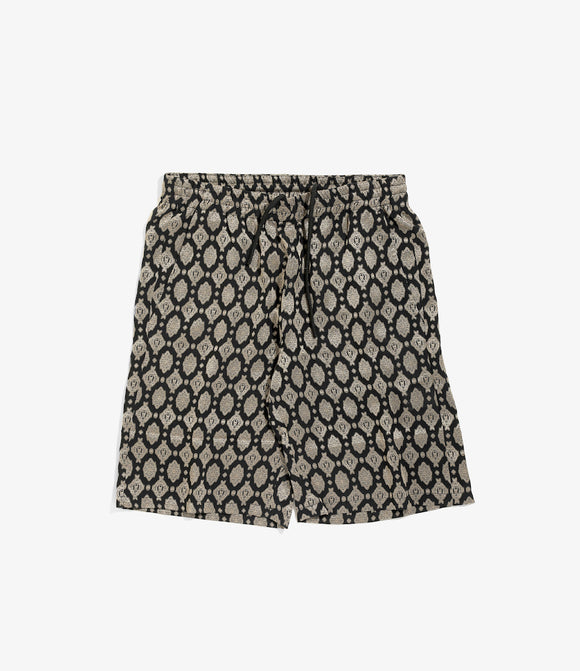 Basketball Short - Navy Cu/Ac Jacquard / Fine Pattern