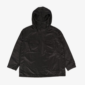Cagoule Shirt - Black Polyester Pilot Twill