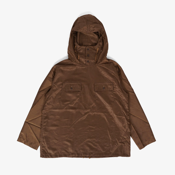 Cagoule Shirt - Brown Polyester Pilot Twill