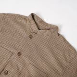 Dayton Shirt - Brown Wool Poly Gunclub Check