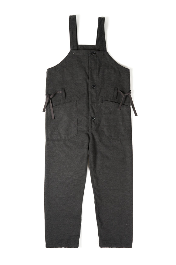 Waders - Charcoal Polyester Fake Melton